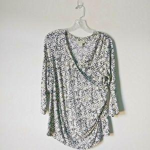 Appleseed's Women size Medium blouse 3/4 sleeve